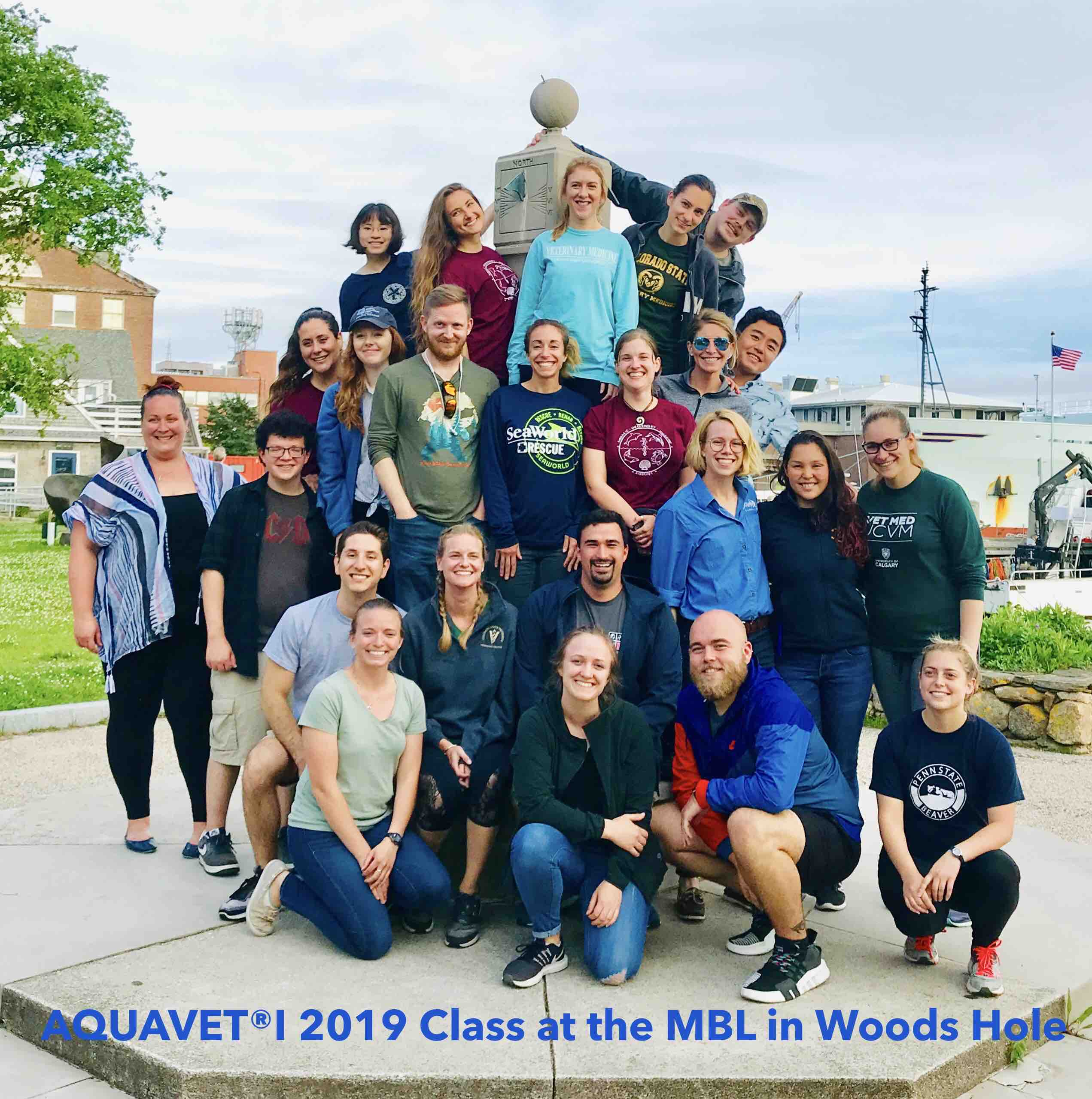 Aquavet I 2019 Class at the MBL in Woods Hole Picture
