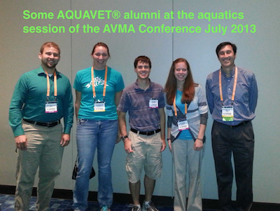 AQUAVET Alumni at AVMA Meeting  in 2013