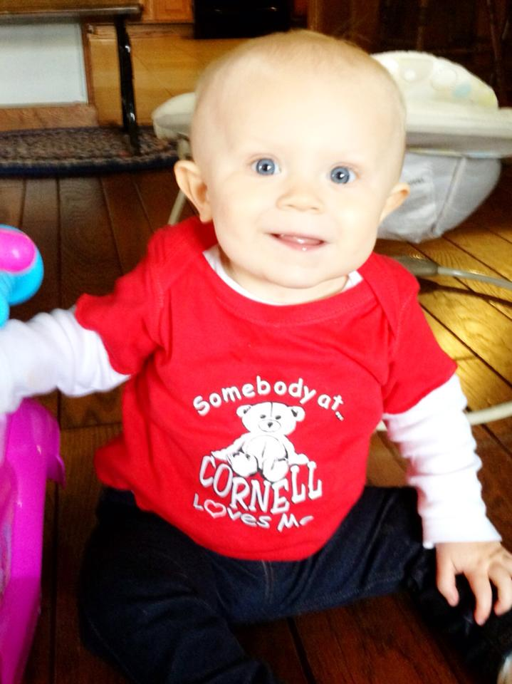 Child wearing a Cornell shirt