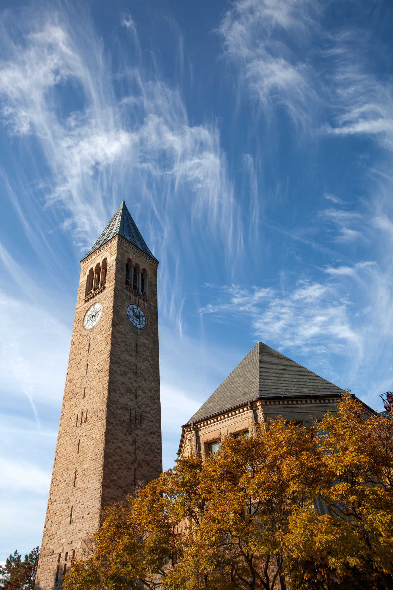 The famous Cornell Clock Tower
