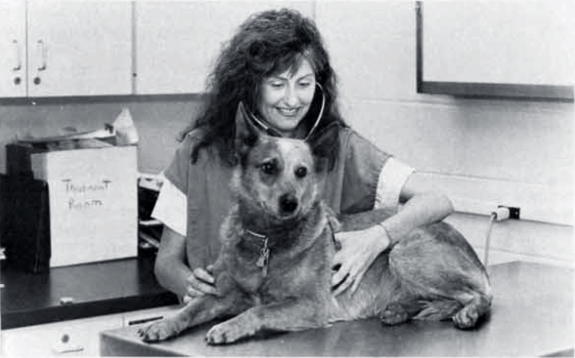 Dr. Sharon A. Center with Meryl, 1989.