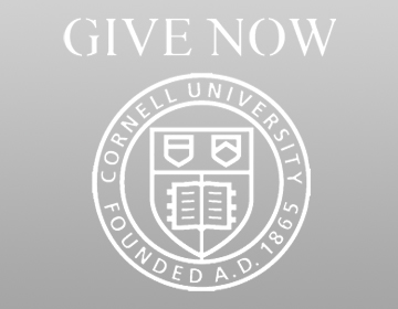 Cornell seal with the words Give Now