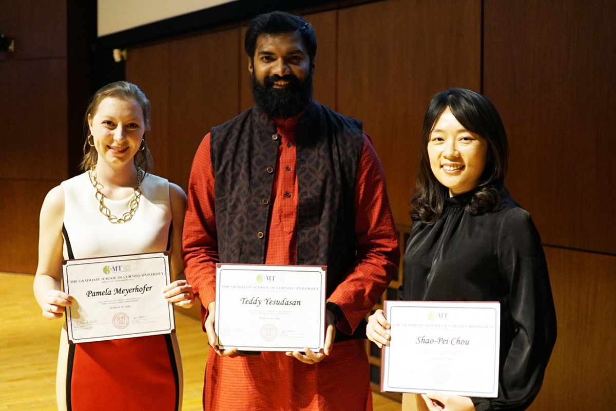 Winners of the Three Minute Thesis competition