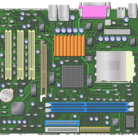 Screenshot of mother board