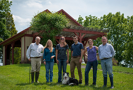 Antczak lab group photo in McConville Barn