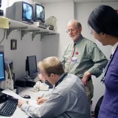 Dr. Hornbuckle with students circa 2005.