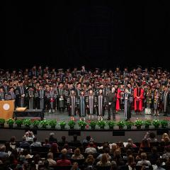 The entire veterinary class of 2019 at hooding ceremony