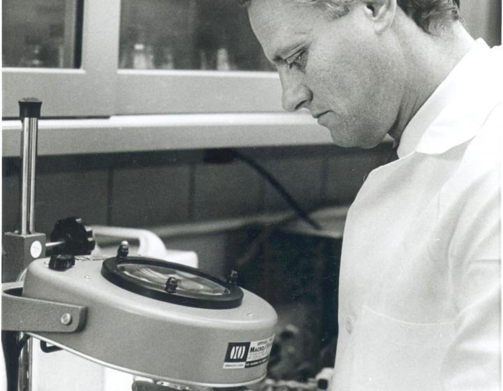 Dr. Coggins in his lab