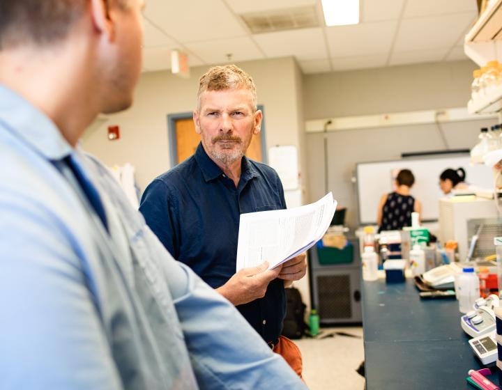 Colin Parrish in lab