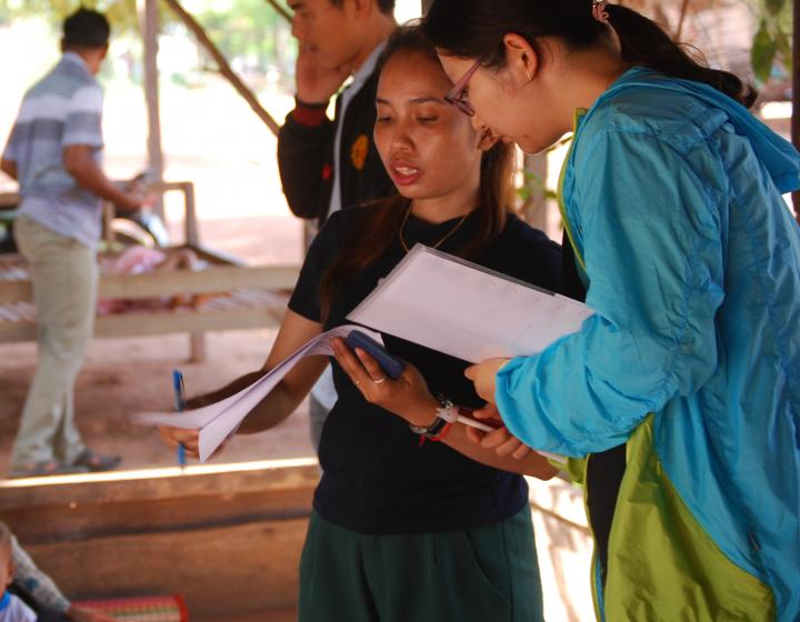 Qijing Wang in Cambodia