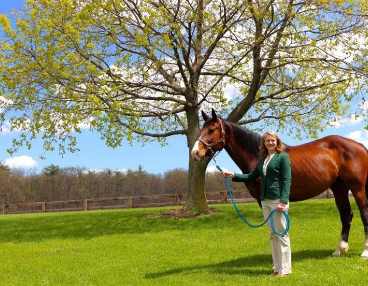 Heidi Reesink and a horse