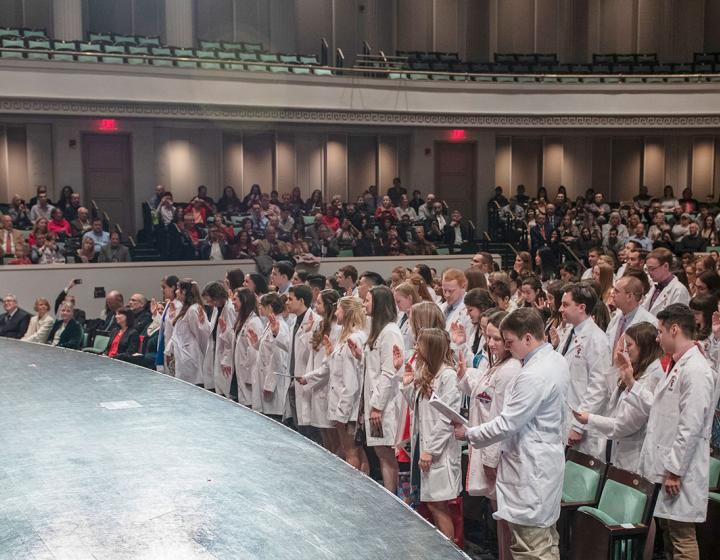 students at the 2019 White Coat Ceremony