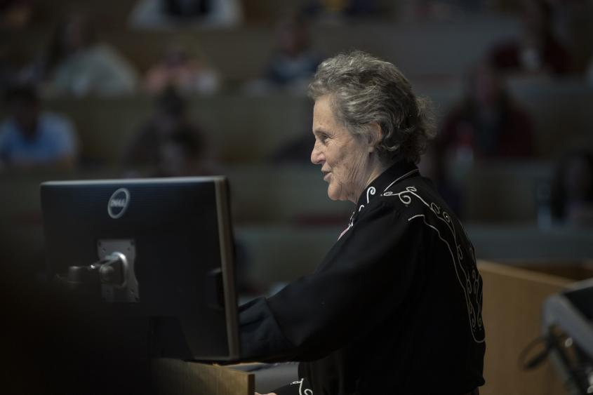 Dr. Temple Grandin speaks at the Cornell Veterinary College