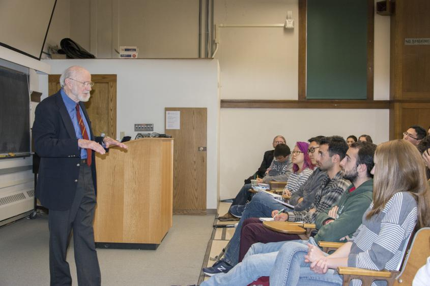 Dr. William Campbell and parasitology class