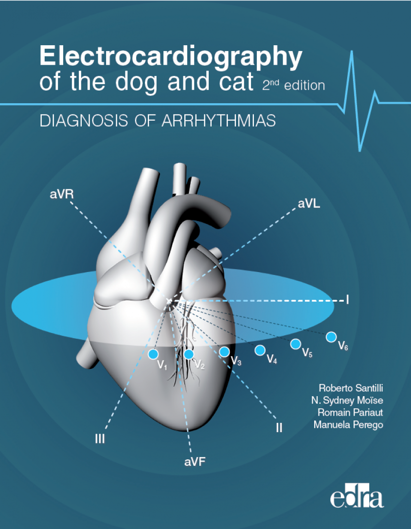 """Front cover of  """"Electrocardiography of the dog and cat, 2nd edition: Diagnosis of arrhythmias"""""""