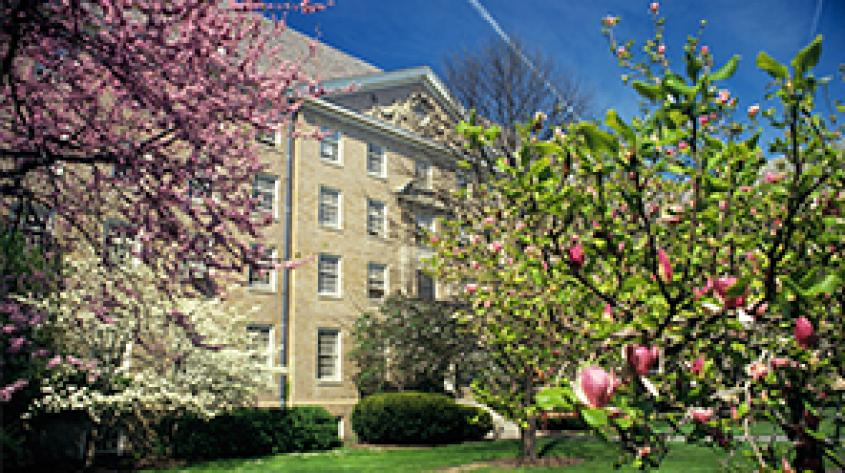 Martha Van Rensselaer building in the spring
