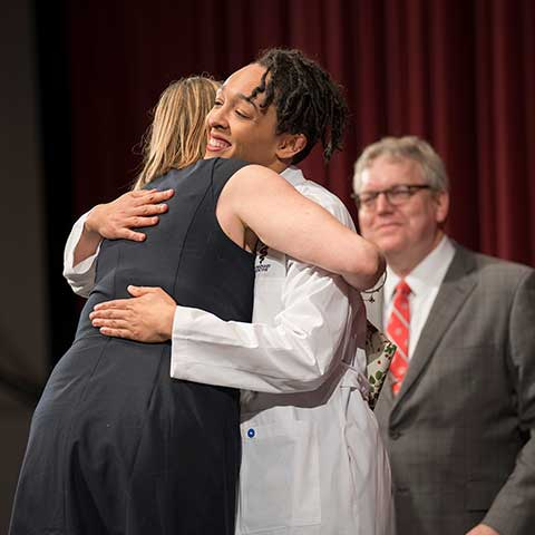 Third-year student awarded her white coat